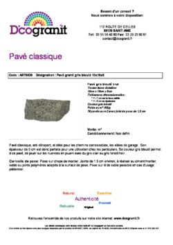 Deco Granit Dco Pierres Naturelles Lorraine Fiche Pdf